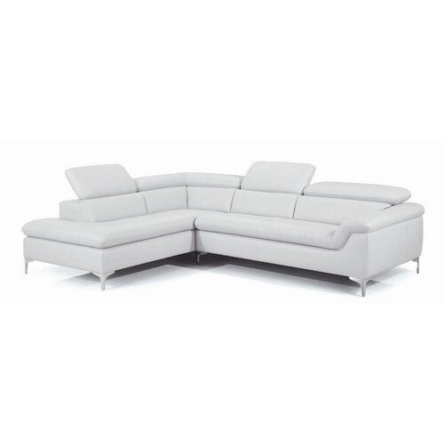 Danco Leather Facing Left Sectional