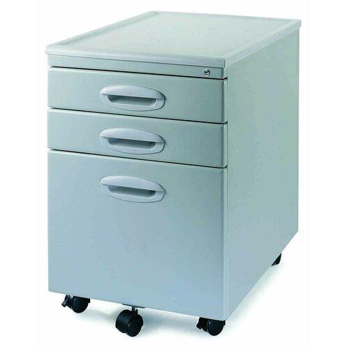 New Spec Inc 3-Drawer Mobile MP-01 File Cabinet