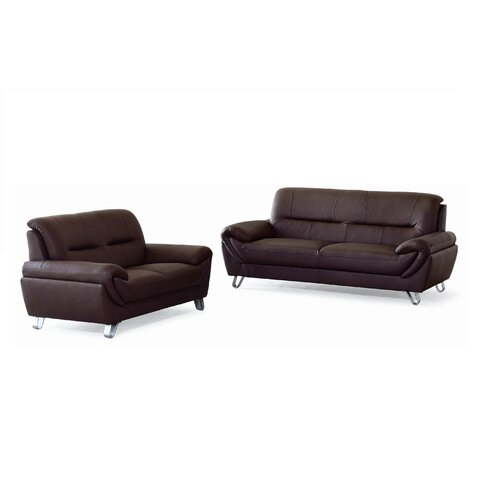 New Spec Inc Sara Sofa and Loveseat Set