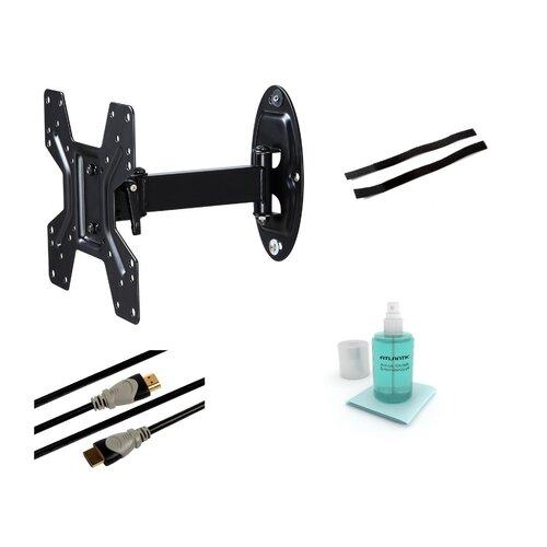 "Atlantic Articulating Arm/Swivel/Tilt Wall Mount Kit for 10""- 37"" Flat Panel Screens"