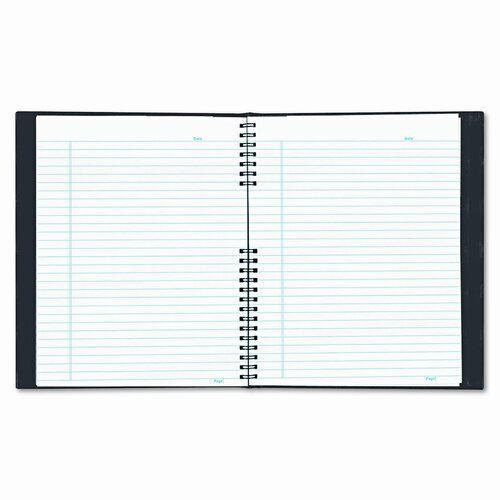 Blueline® Exec Wirebound Notebook, College/Margin Rule, 8-1/2x11, BLK, 200 Sheets