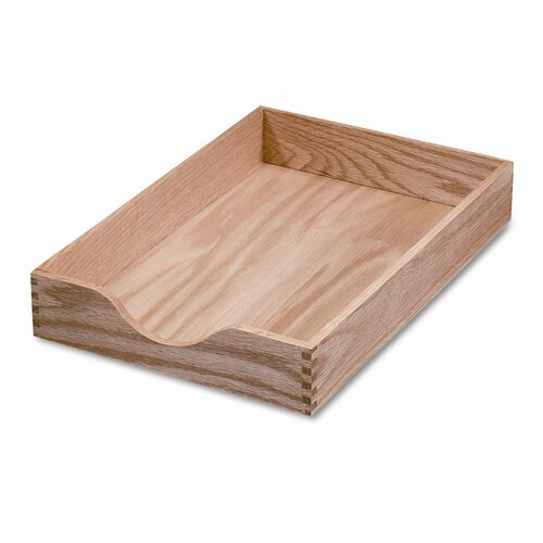 Carver Wood Products, INC. Hardwood Legal Stackable Desk Tray, Oak