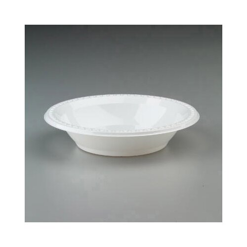 Chinet 32 Ounces Round Plastic Bowls in White