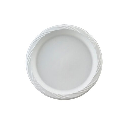 "Chinet 10.25"" Round Plastic Plates in White"