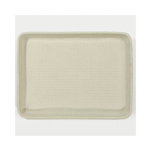 Chinet StrongHolder Molded Fiber Rectangular Food Trays in Beige