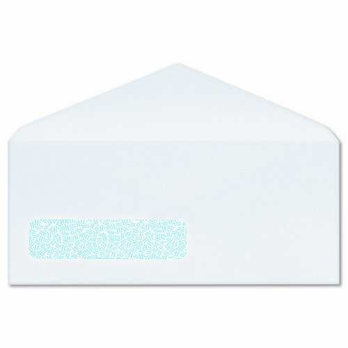 Columbian Envelope Poly-Klear Single Window Envelopes, Privacy Tint, #10, White, 500/box