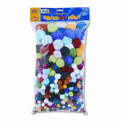 Creativity Street® Pound of Poms Giant Bonus Pack, Assorted, 1-lb. of Pompons per Pack