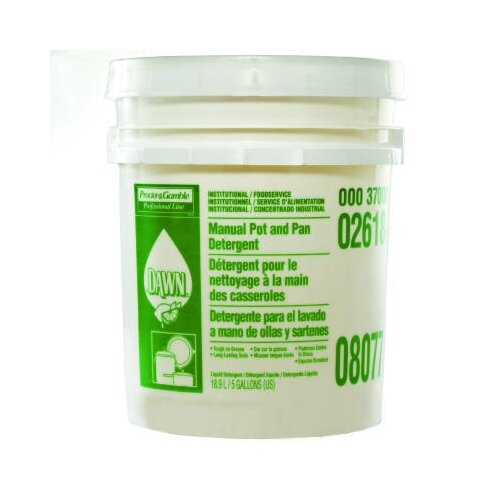 Dawn Manual Pot and Pan Dish Detergent Liquid Pail with Lemon Scent