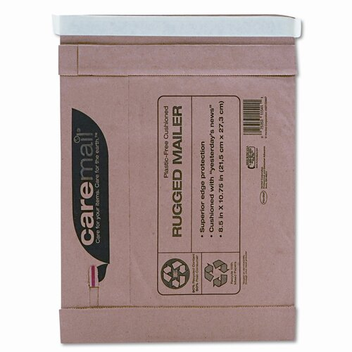 Duck® Caremail Rugged Padded Mailer, Side Seam, 8 1/2 x 10 3/4, Light Brown, 25/pack