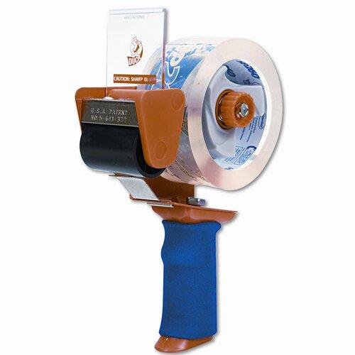 "Duck® Bladesafe Antimicrobial Tape Gun w/Tape, 3"" Core, Metal/Plastic, Orange"