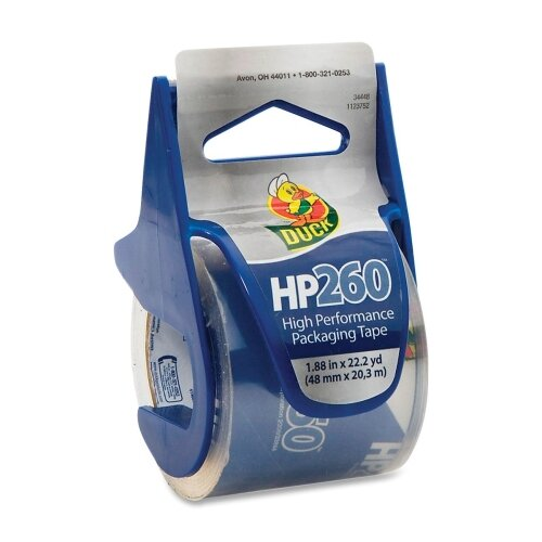 "Duck® HP260 Packaging Tape w/Dispenser, 1.88"" x 22.2 yds, Clear"