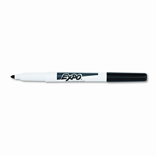 EXPO® Dry Erase Marker, Fine Point, Black, 12 per Pack