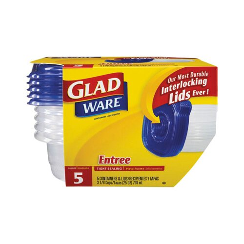 Glad GladWare Entree Container with Lid in Clear
