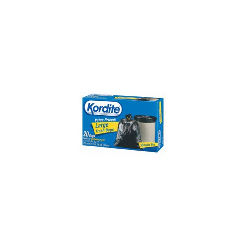 Hefty 30 Gallon Kordite Large Trash Bag 20/box