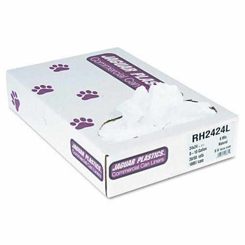 Jaguar Plastics® Regular Liners, 1000/Carton