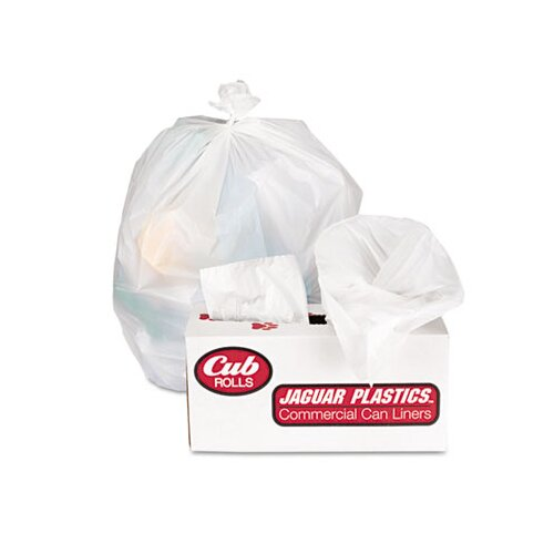 Jaguar Plastics® Cub Commercial Low-Density Roll Can Liners, 250/Carton