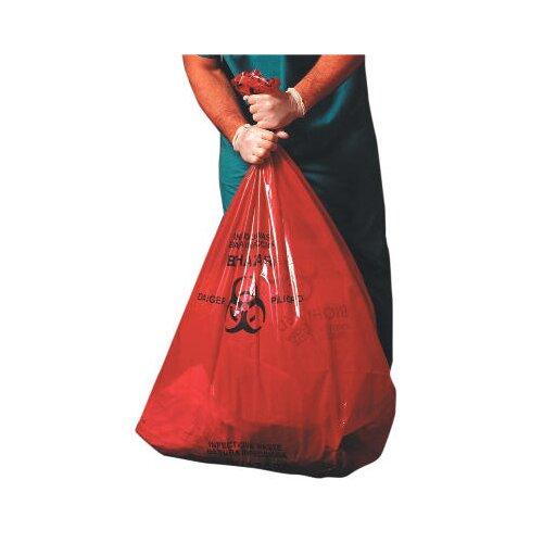 Jaguar Plastics® Health Care Low-Density Super Grade Liner 45-Gallon in Red