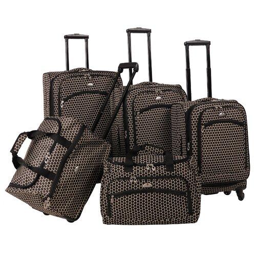 Small Dots 5 Piece Luggage Set