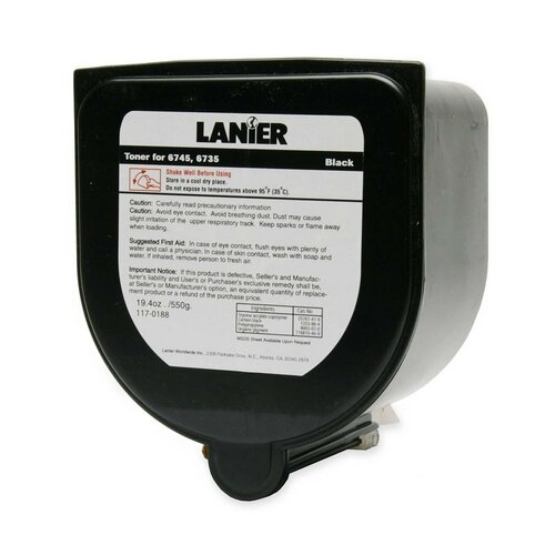 Lanier 1170188 Copy Toner for Lanier 6745/6735, 18750 Page Yield, Black