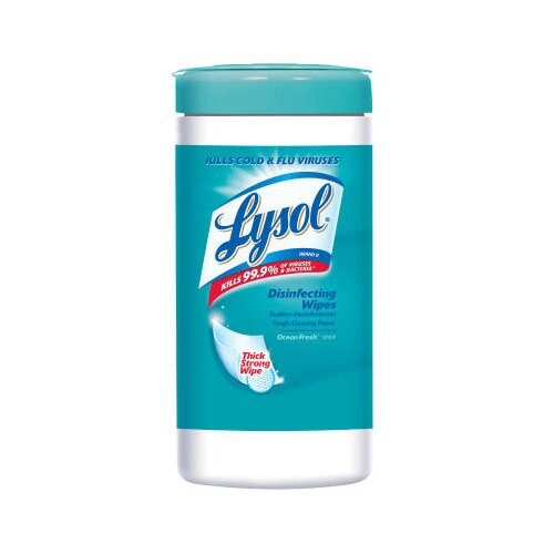"Lysol 7"" W x 8"" L Spring Waterfall Disinfecting Wipes in White"
