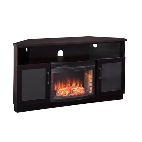 furnitech 61 tv stand with curved electric fireplace reviews
