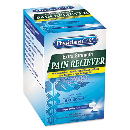 PhysiciansCare® Extra-Strength Pain Reliever (100 count)