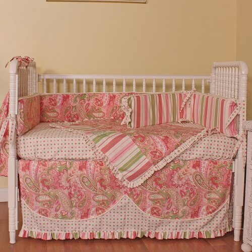 Paisley 4 Piece Crib Bedding Set