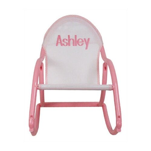 Personalized Rocking Chair in Pastel Mesh