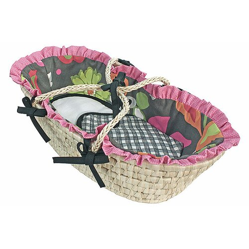 Sleek Slate Moses Doll Basket