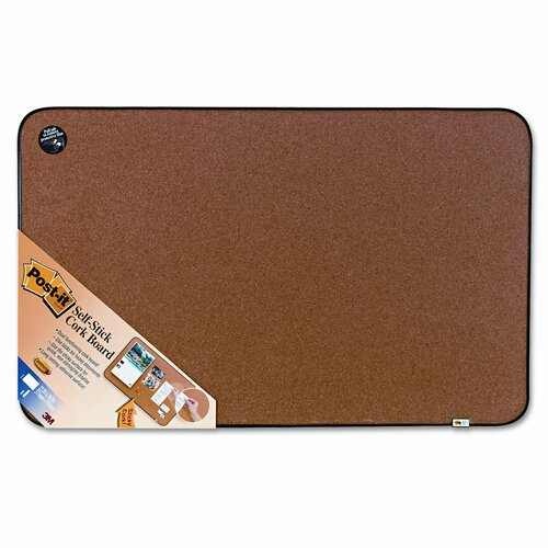 Post-it® Sticky Cork Self-Stick 3' x 1.88' Bulletin Board
