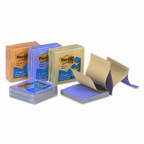 Post-it® Pop-Up 3D Dips Refill Note Pad, 12 Pack