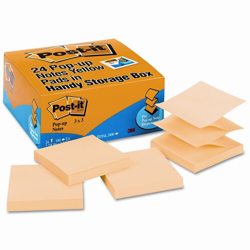 Post-it® Pop-Up Refill Note Pad, 24 Pack