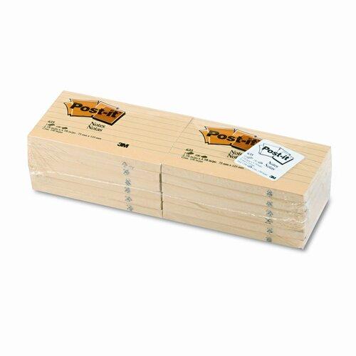 Post-it® Original Note Pad, 12 100-Sheet Pads/Pack