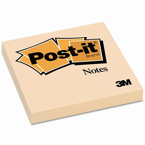 Post-it® Original Notes, 3 x 3, Canary Yellow, 12 100-Sheet Pads/pack