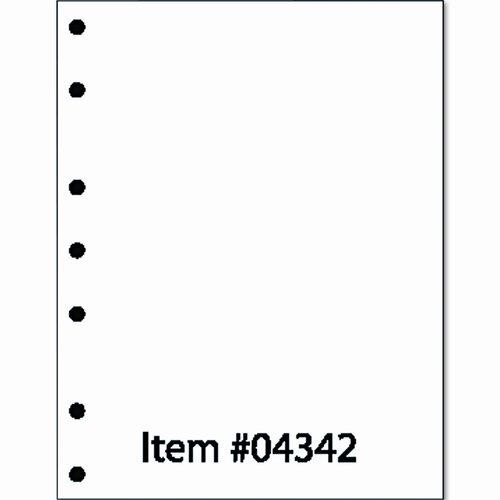 PRINTWORKS PROFESSIONAL Laser3 7-Hole Left-Punched Copy/Laser Paper, White, 20lb, Letter, 500 Sheets
