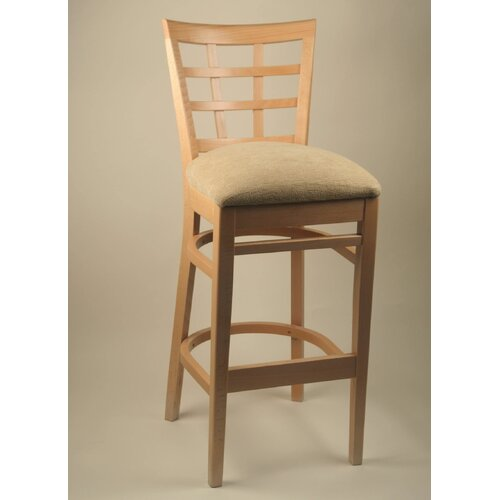 "Alston 24"" Bar Stool with Cushion"