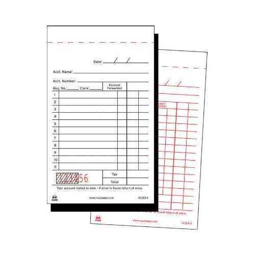 Royal Toner Sales Receipt Book