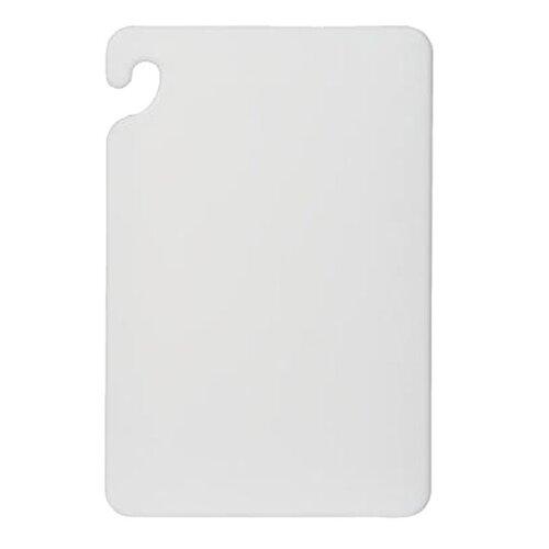San Jamar Cut-N-Carry Color Cutting Board in White