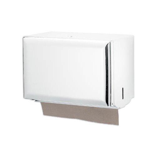 San Jamar Standard Key-Lock Single fold Towel Dispenser in White