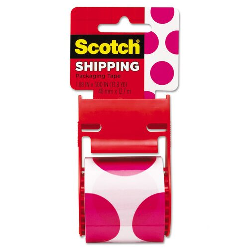 "Scotch® 1.88"" x 500"" Polka Dot Decorative Tape"