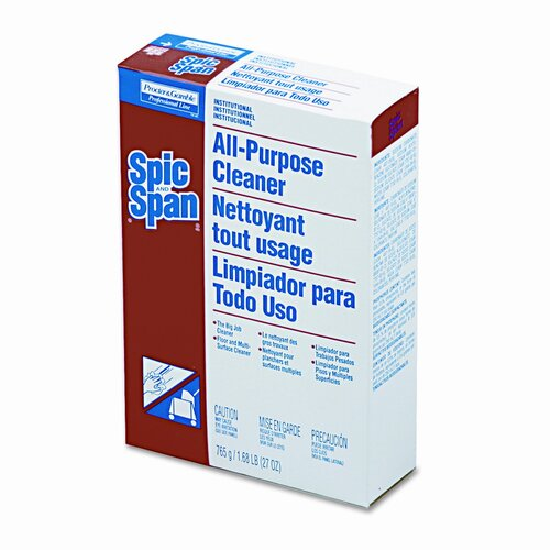 Procter & Gamble Commercial Spic and Span All-Purpose Floor Cleaner, 27oz Box