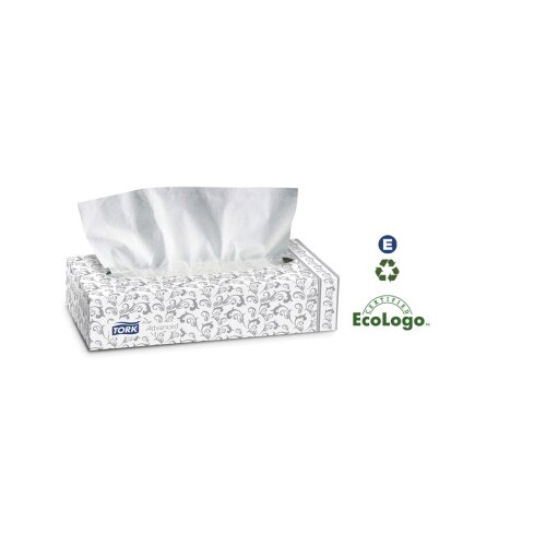 Tork® Advanced Facial Tissue in White