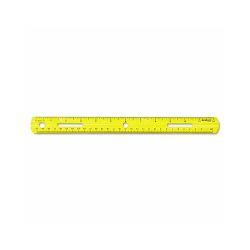 Westcott Plastic Ruler, 12in/30cm, Assorted Colors