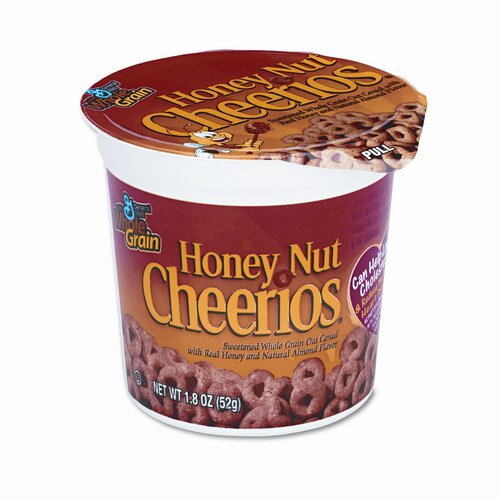 Cheerios Honey Nut Cheerios Cereal, Single-Serve 1.8oz Cup, Six per Box