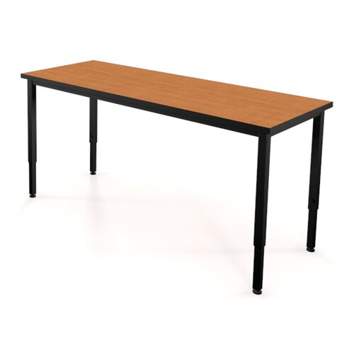 Fleetwood Adjustable Height Steel Frame Science Table with Black Chemical Resistant Top