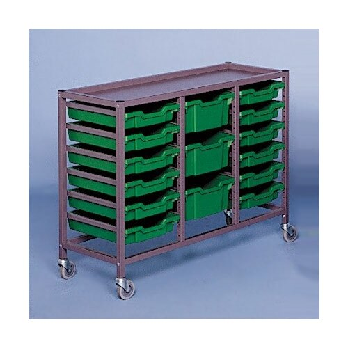 "Fleetwood Triple Column Mobile 33.5"" Storage Cart"