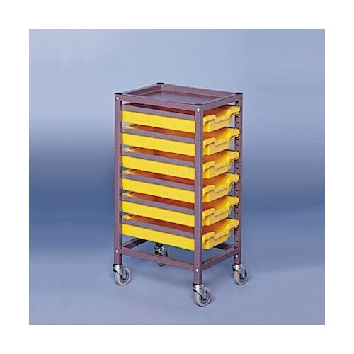 "Fleetwood Single Column Mobile 35.5"" Storage Cart"