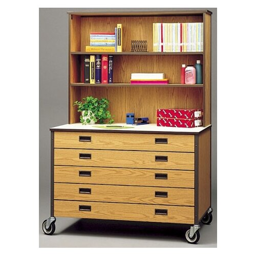 Fleetwood Mobile Drawer Cabinet with Hutch
