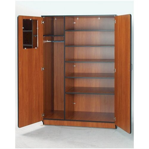 "Fleetwood Illusions 72"" H Teacher Wardrobe with Five Adjustable Shelves"