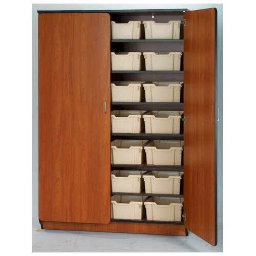 "Fleetwood Illusions 84"" H Tray Cabinet with Seven Adjustable Shelves"